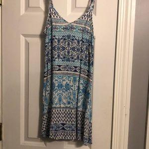 Blue & white tribal dress.
